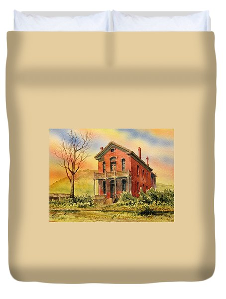 Courthouse Bannack Ghost Town Montana Duvet Cover by Kevin Heaney