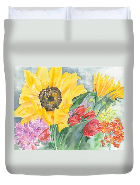 Courtney's Sunflower Duvet Cover by Kimberly Lavelle