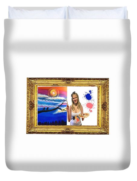Duvet Cover featuring the digital art Cover Art For Gallery by Diana Riukas