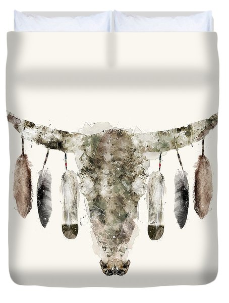 Cow Skull Duvet Cover