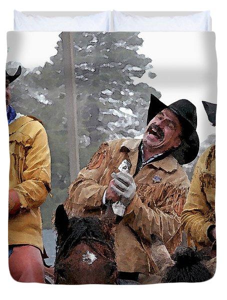 Cowboy Humor Duvet Cover