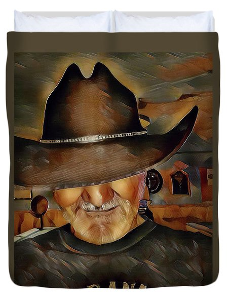 Duvet Cover featuring the digital art Cowboy by Robert Smith