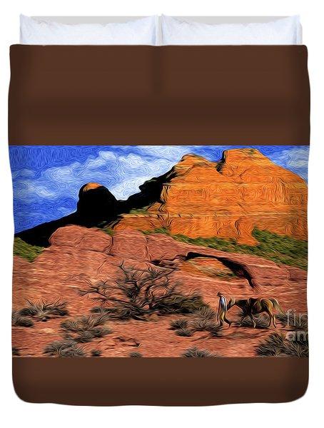 Cowboy Sedona Ver 1 Duvet Cover