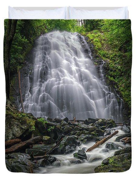 Crabtree Falls North Carolina Duvet Cover