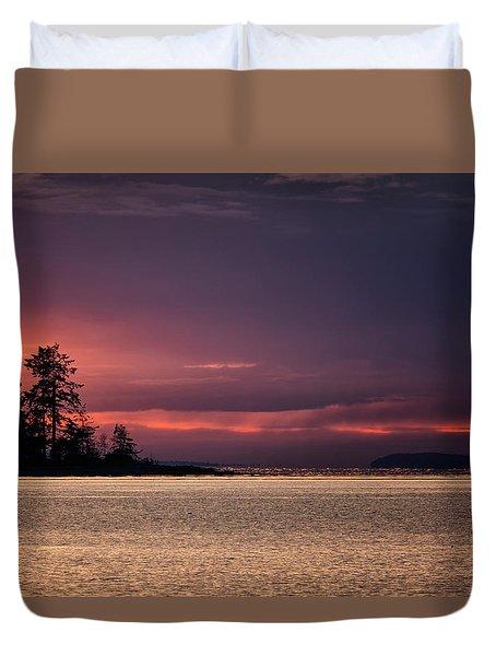 Craig Bay Sunset Duvet Cover