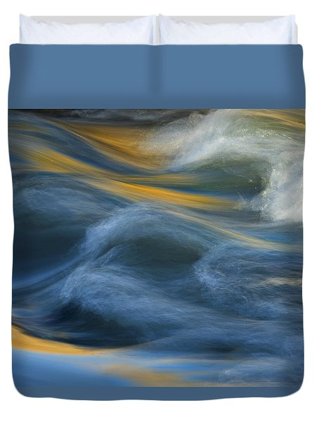 Crash Of Color Duvet Cover by Sue Cullumber