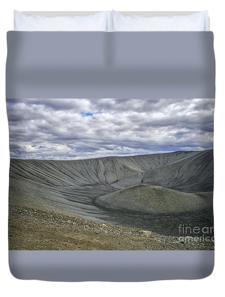 Crater Duvet Cover by Patricia Hofmeester