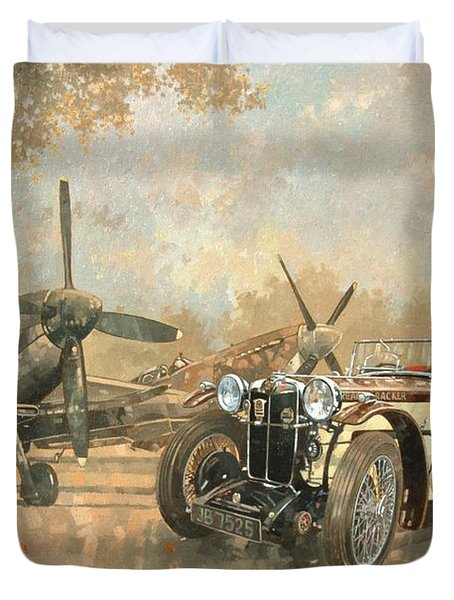 Cream Cracker Mg 4 Spitfires  Duvet Cover