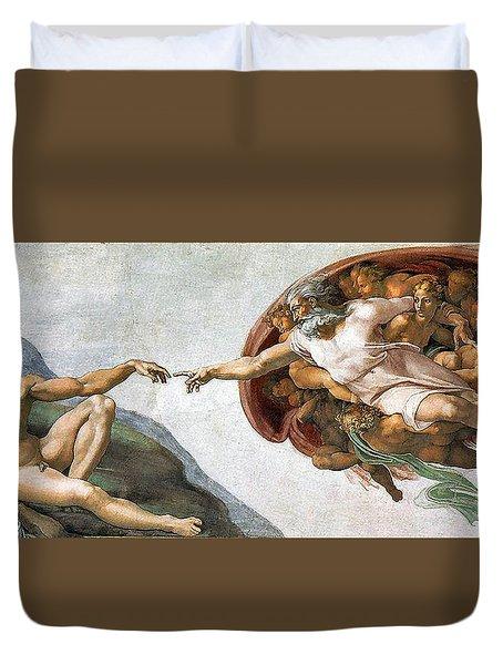 Creation Of Adam Duvet Cover