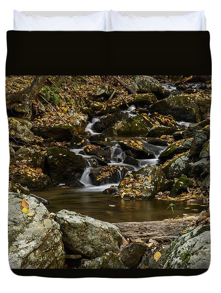 Duvet Cover featuring the photograph Creek by Kevin Blackburn
