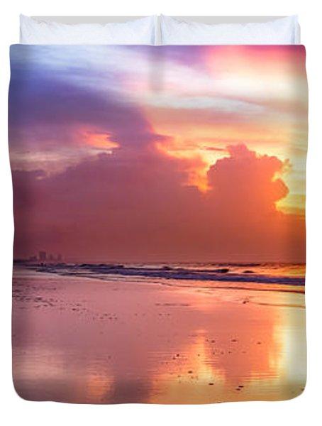 Crescent Beach September Morning Duvet Cover