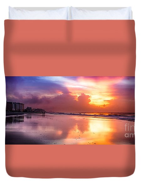 Crescent Beach September Morning Duvet Cover