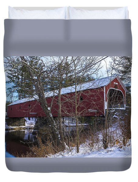 Cresson Covered Bridge. Duvet Cover