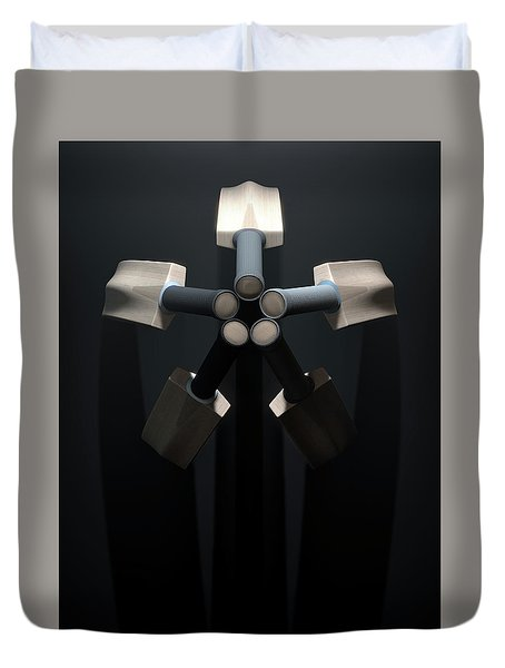 Cricket Back Circle Dramatic Duvet Cover by Allan Swart