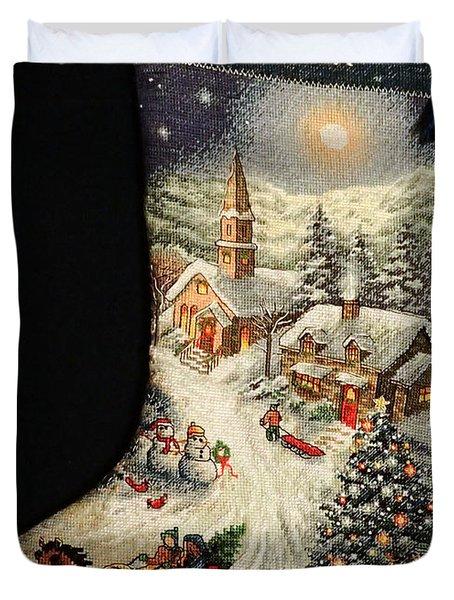 Cross-stitch Stocking Duvet Cover