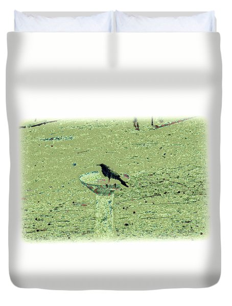 Crow And Bath Duvet Cover