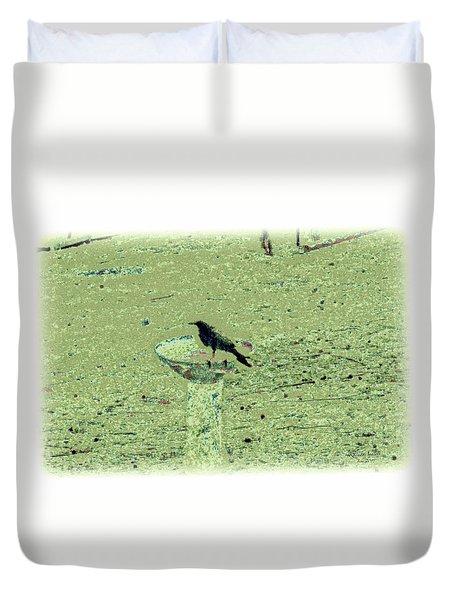 Crow And Bath Duvet Cover