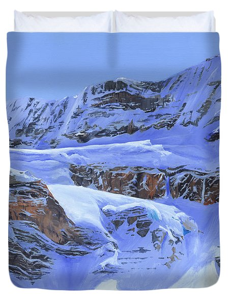 Crowfoot Glacier Duvet Cover by Glen Frear