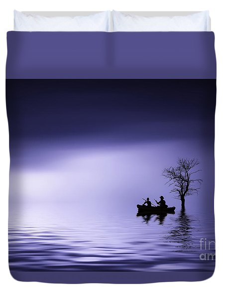 Duvet Cover featuring the photograph Cruise by Bess Hamiti