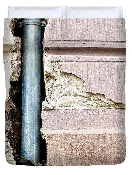 Crumbling Wall Duvet Cover