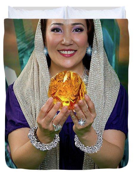 Crystal Goddess Duvet Cover