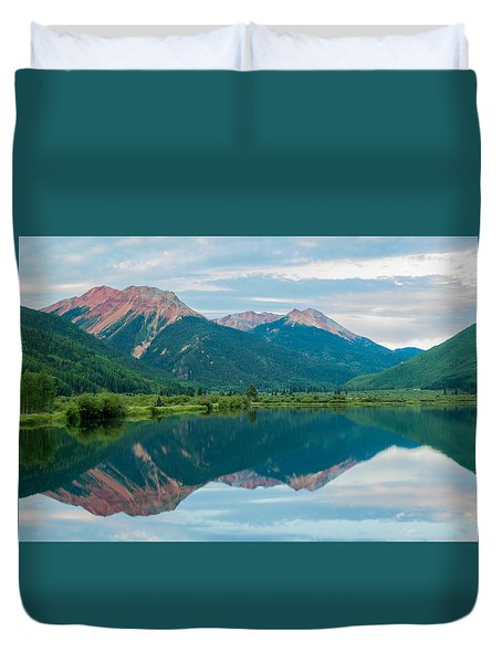 Duvet Cover featuring the photograph Crystal Lake by Jay Stockhaus