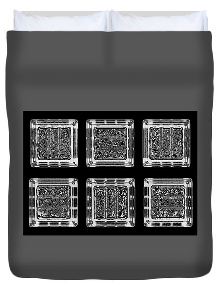 Duvet Cover featuring the digital art Cubes by Steve Godleski