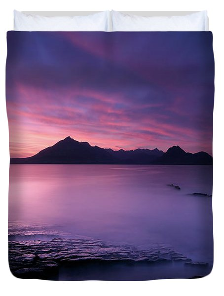 Cuillins At Sunset Duvet Cover