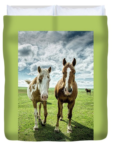 Curious Friends Duvet Cover