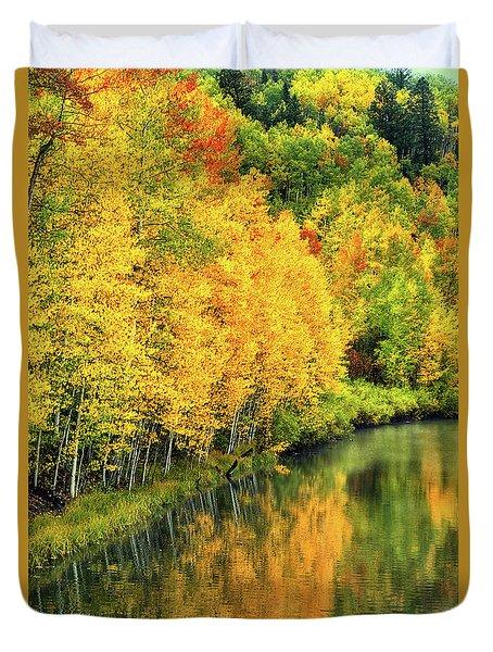 Cushman Lake  Duvet Cover