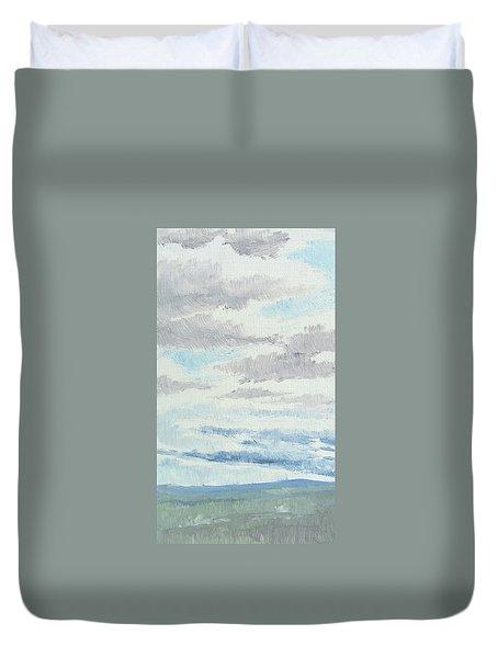 Dagrar Over Salenfjallen- Shifting Daylight Over Distant Horizon 9 Of 10_0029 Duvet Cover