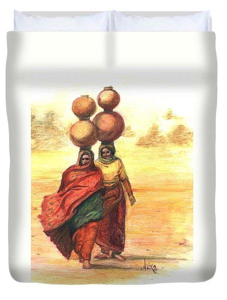 Daily Desert Dance  Duvet Cover
