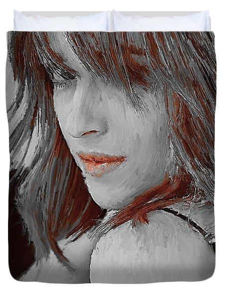 Dakota Johnson Actress Duvet Cover