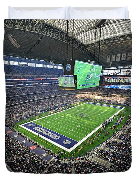 Dallas Cowboys Att Stadium Duvet Cover