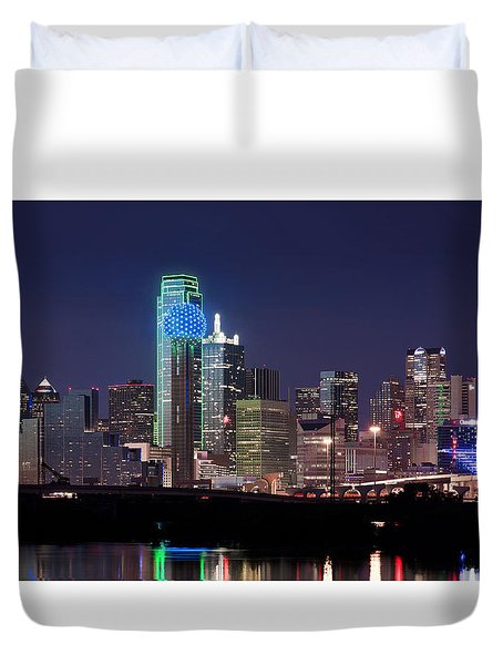 Dallas Skyline Cowboys Duvet Cover