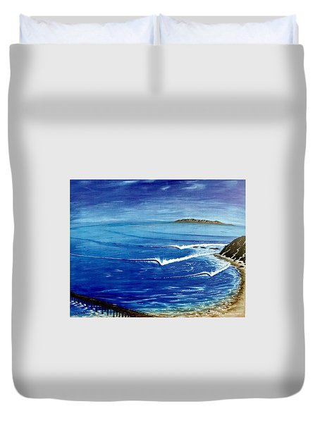 Dana Point 1950s Duvet Cover