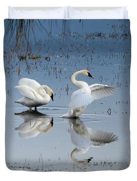 Dance Of The Trumpeter #1a Duvet Cover