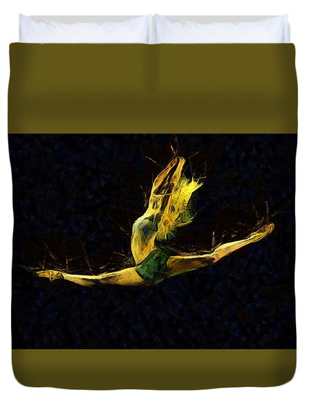 Trance Dance Duvet Cover by Sir Josef - Social Critic -  Maha Art