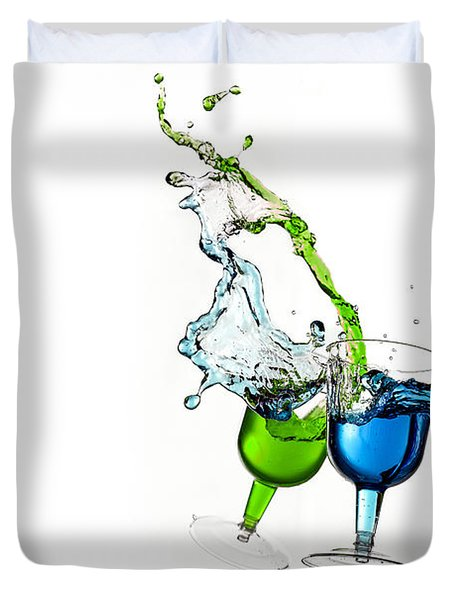 Dancing Drinks Duvet Cover