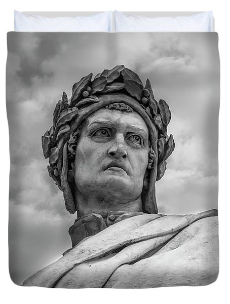 Duvet Cover featuring the photograph Dante Alighieri by Sonny Marcyan