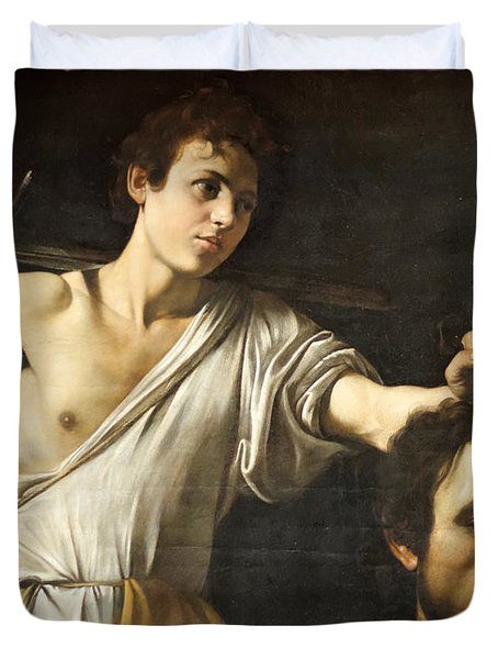 David With The Head Of Goliath Duvet Cover
