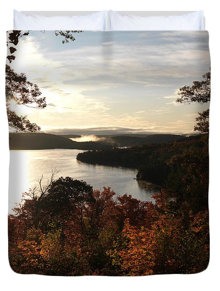 Dawn At Algonquin Park Canada Duvet Cover by Oleksiy Maksymenko