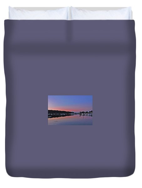 Dawn At Gig Harbor Duvet Cover