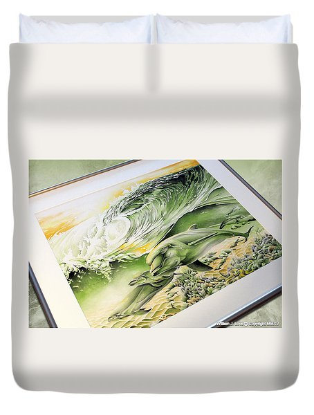 Duvet Cover featuring the painting Dawn Patrol by William Love