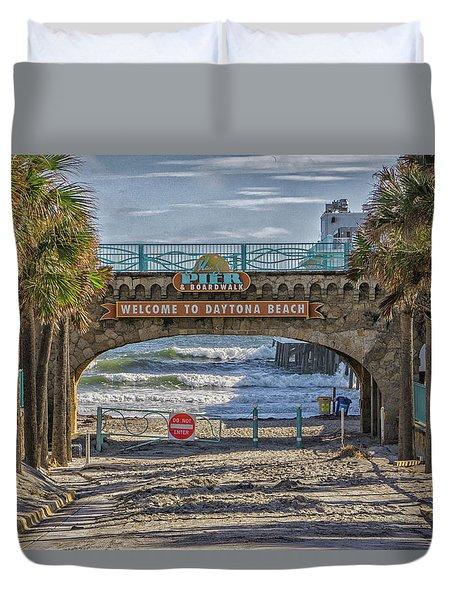 Daytona Beach Duvet Cover