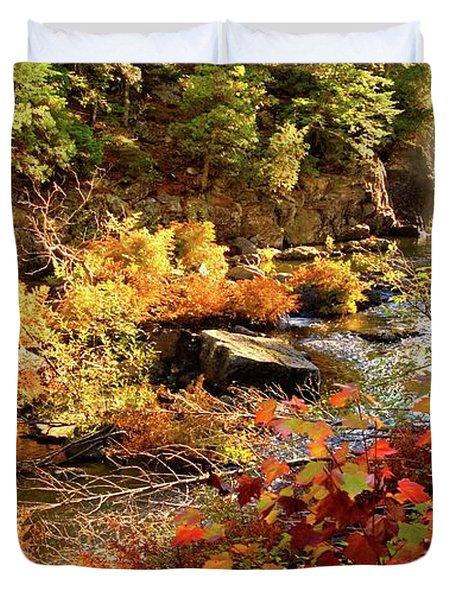 Dead River Falls  Marquette Michigan Duvet Cover