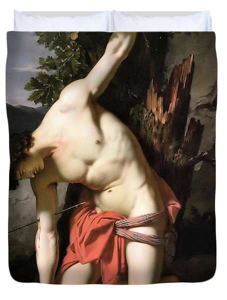Death Of Saint Sebasian Duvet Cover