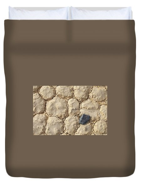 Duvet Cover featuring the photograph Death Valley Mud by Breck Bartholomew