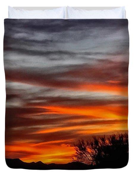 December Sunset Duvet Cover