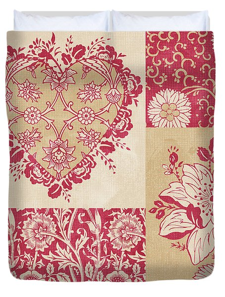 Deco Heart Red Duvet Cover